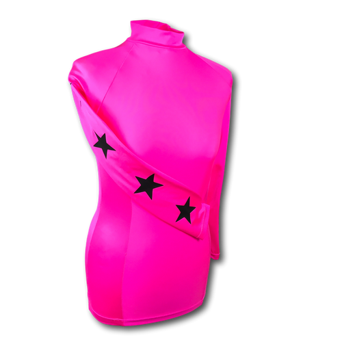 Fluorescent Pink and black stars baselayer
