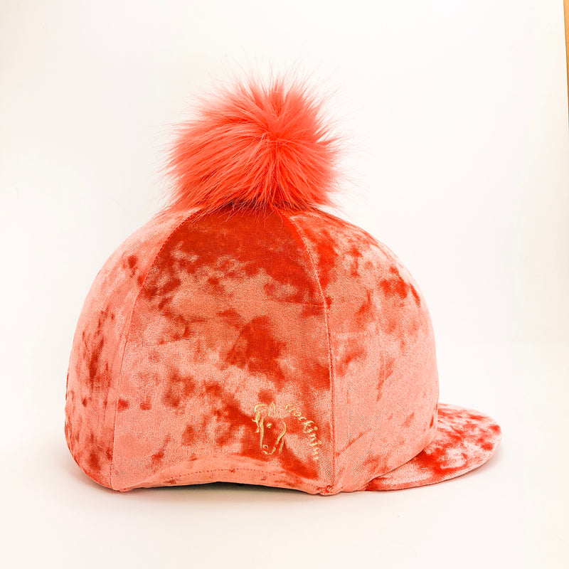Sunset Orange Dapple Hat Cover