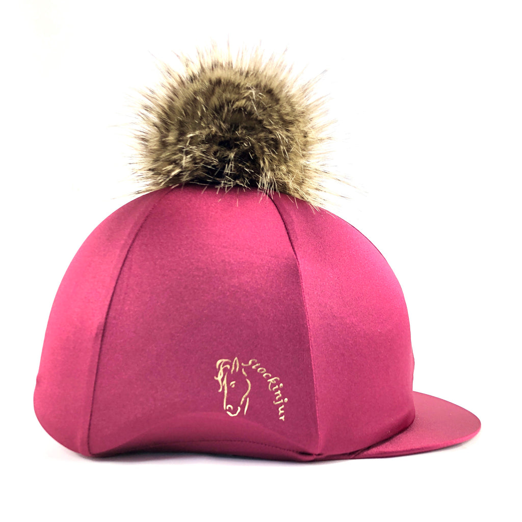 Cranberry (Burgundy) Lycra Hat Silk