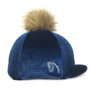 Navy Velvet Riding Hat Silk