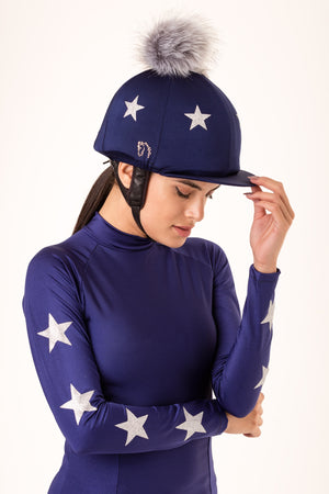 Navy Lycra with Silver Stars