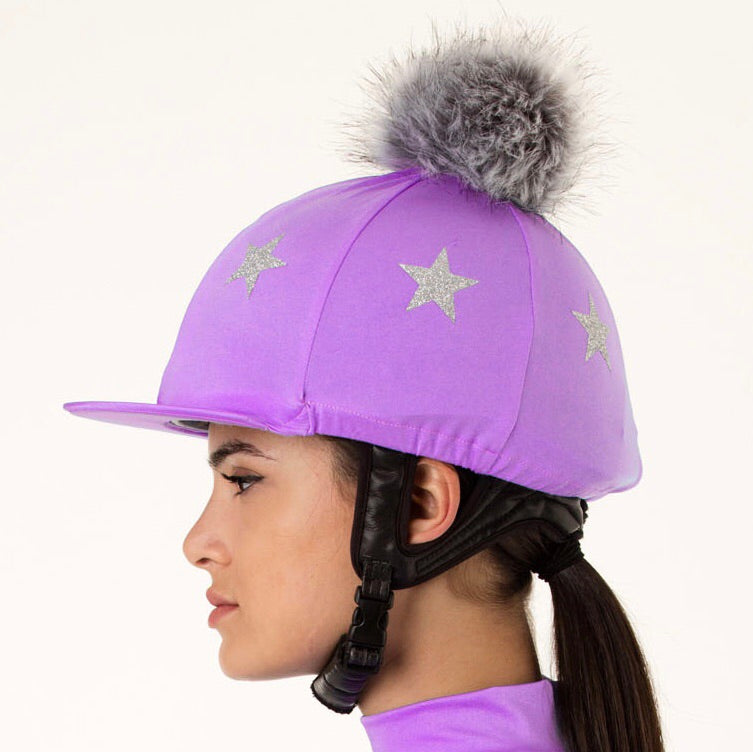 Lavender Lycra with Silver Stars