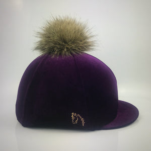 Plum Velvet Hat Cover