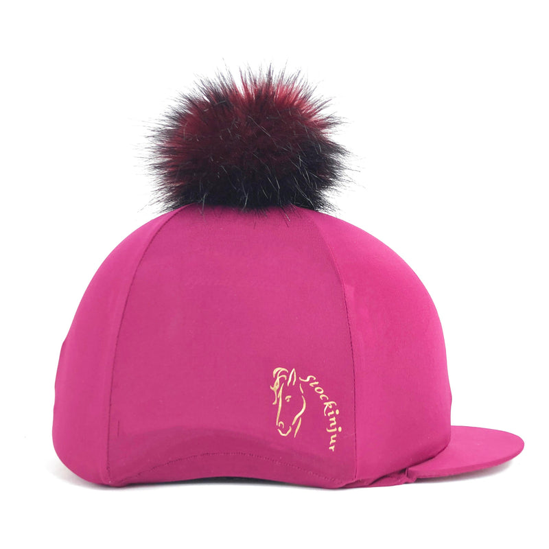 Mulberry Big Pom Lycra Faux Fur Hat Covers