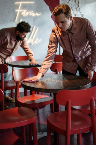 Table Cleaning, A Restaurant's Guide to Avoiding COVID-19 While Being Eco-Friendly
