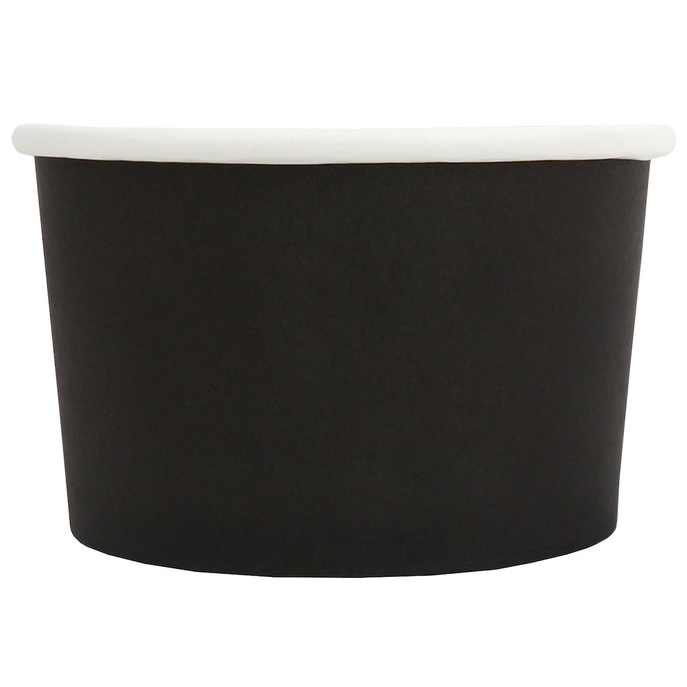 UNIQ® 4 oz Black Eco-Friendly Compostable Ice Cream Cups