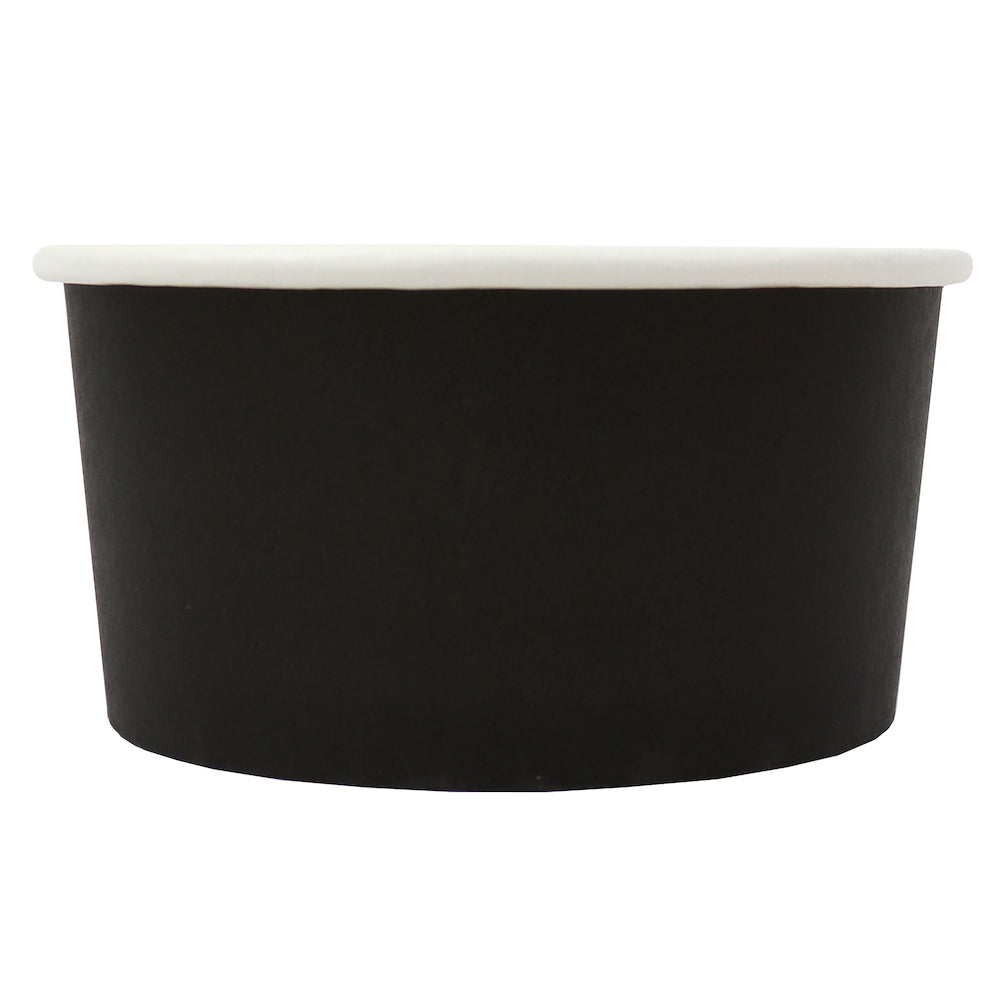 UNIQ® 6 oz Black Eco-Friendly Compostable Ice Cream Cups