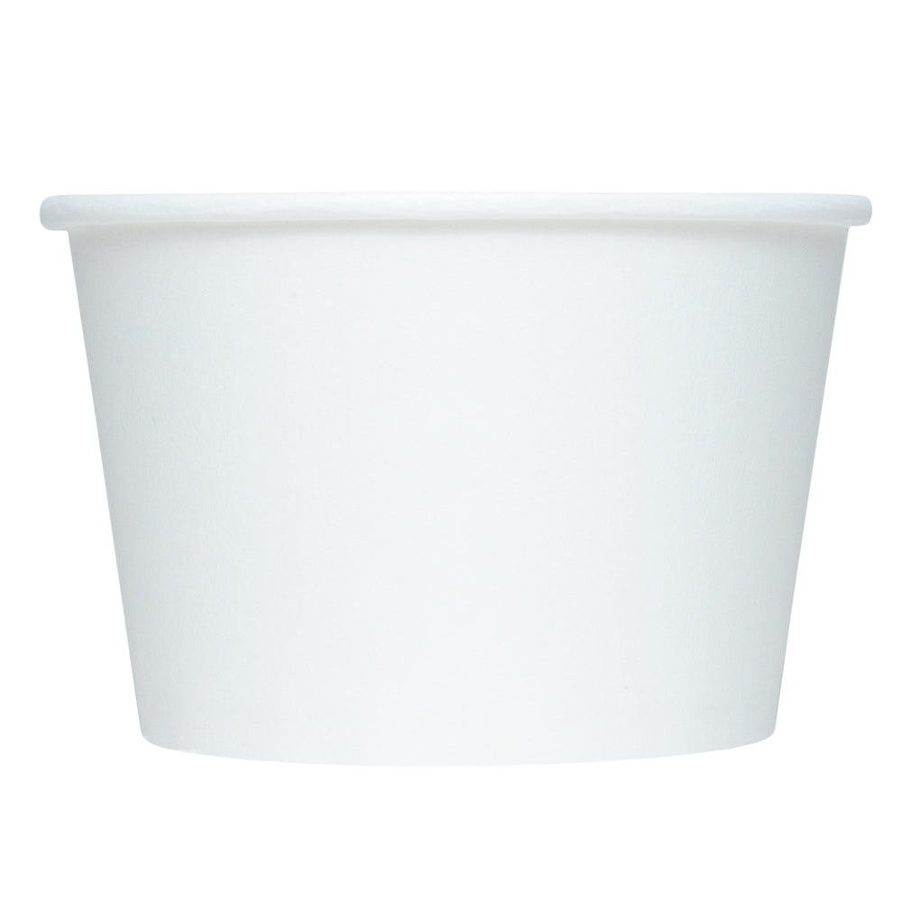 UNIQ® 8 oz White Eco-Friendly Compostable Cups