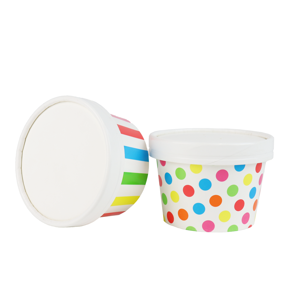 UNIQ® 6/8 oz Pretty Perfect Paper Cup Lids