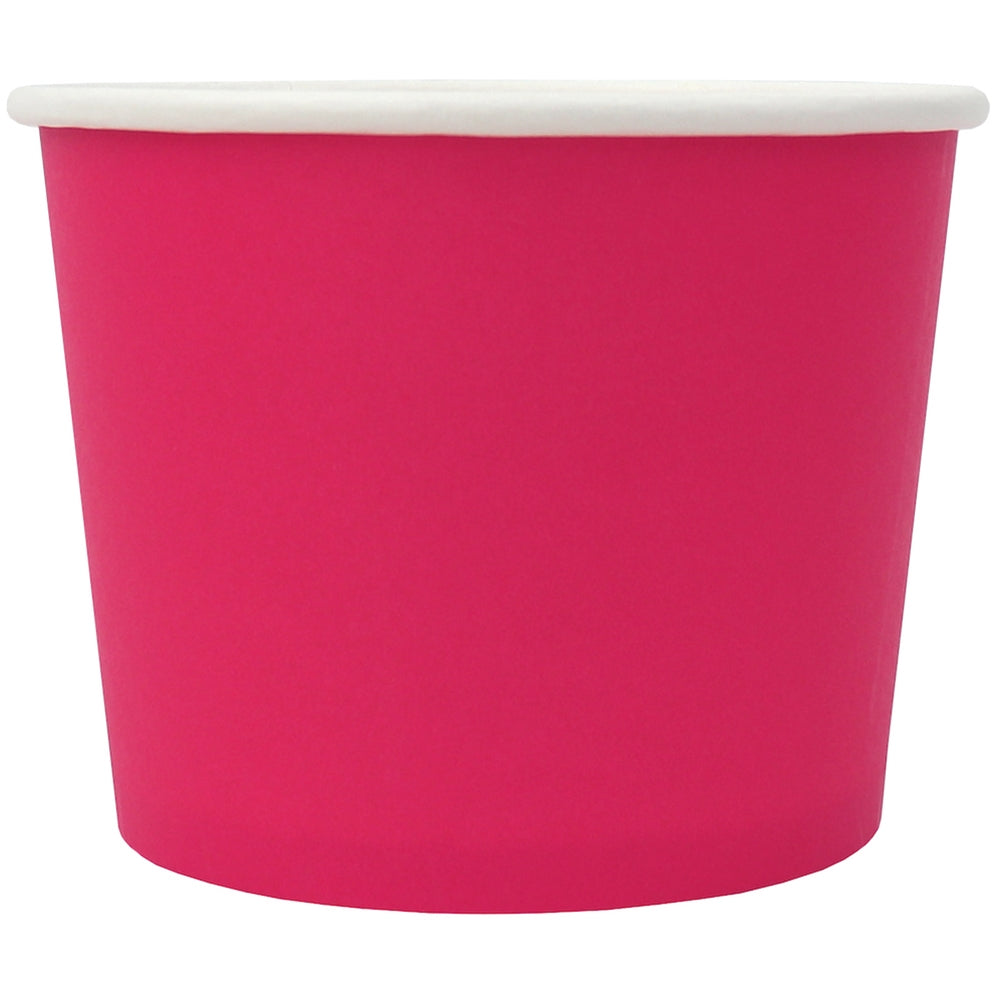 UNIQ® 12 oz Pink Eco-Friendly Compostable Ice Cream Cups