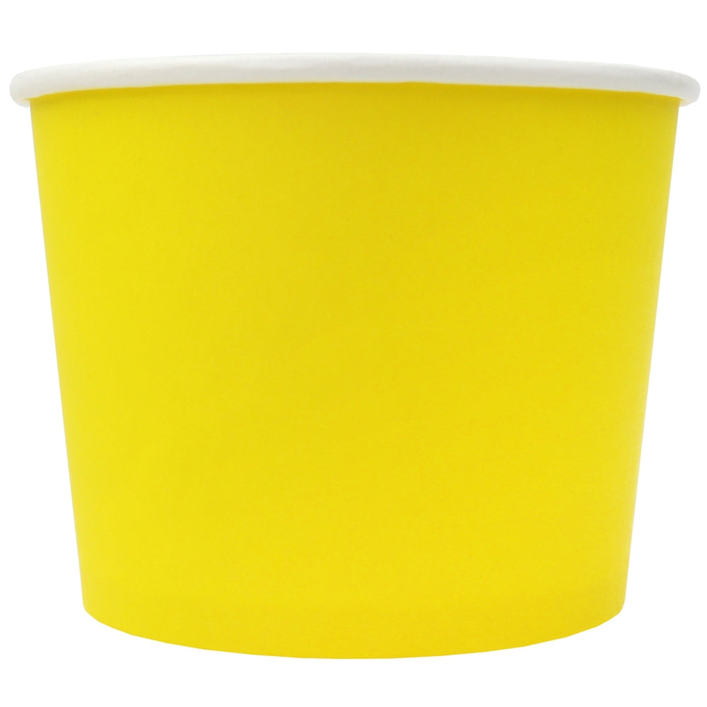 UNIQ® 12 oz Yellow Eco-Friendly Compostable Cups