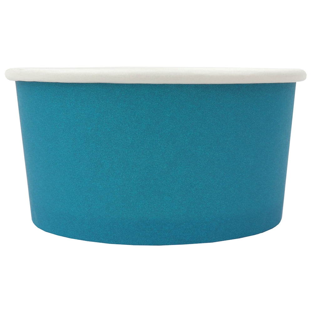 UNIQ® 6 oz Blue Eco-Friendly Compostable Ice Cream Cups
