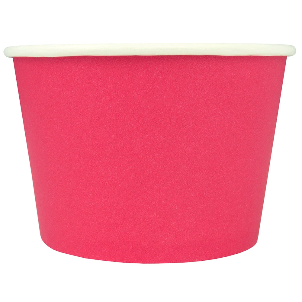 UNIQ® 8 oz Pink Eco-Friendly Compostable Cups