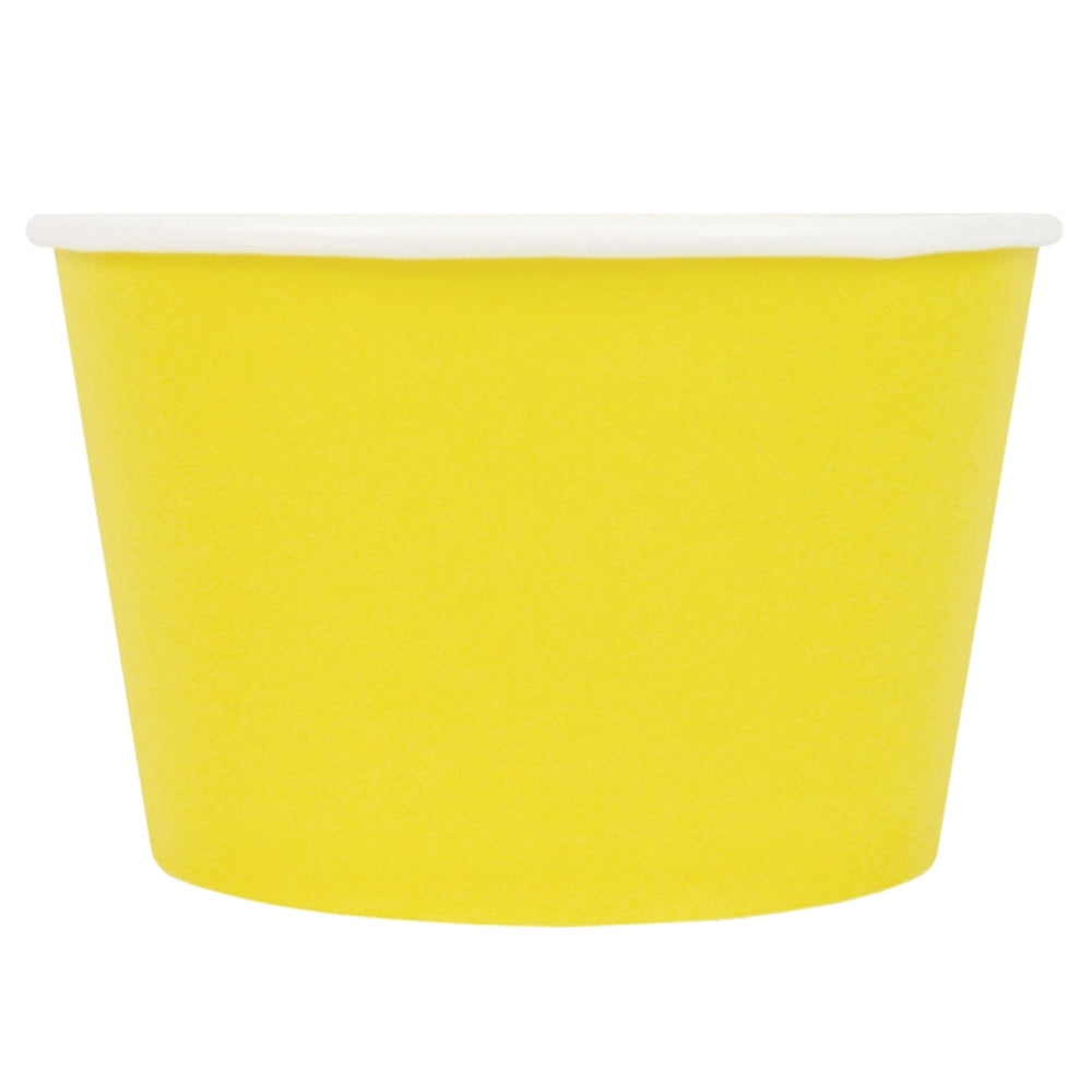 UNIQ® 8 oz Yellow Eco-Friendly Compostable Cups