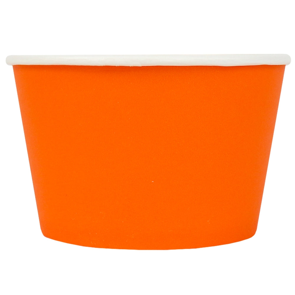 UNIQ® 8 oz Orange Eco-Friendly Compostable Cups