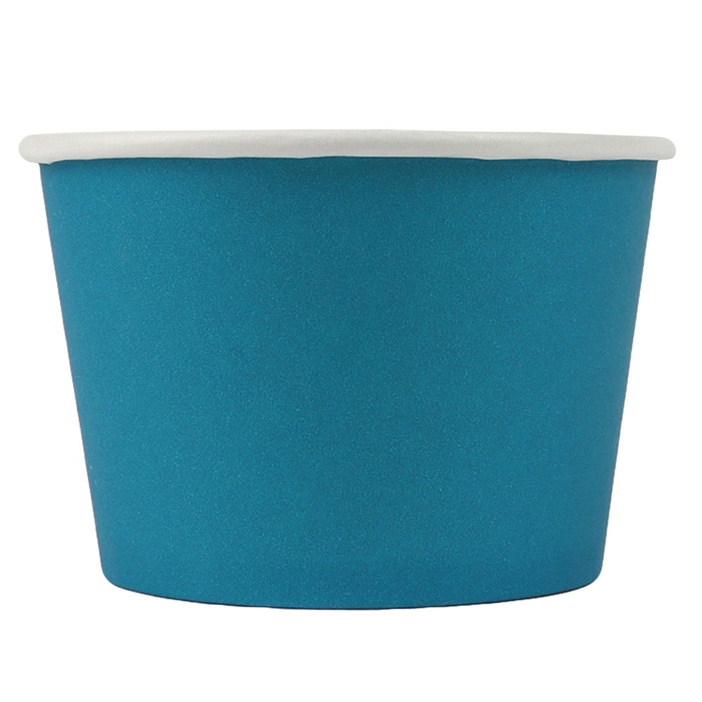 UNIQ® 8 oz Blue Eco-Friendly Compostable Cups