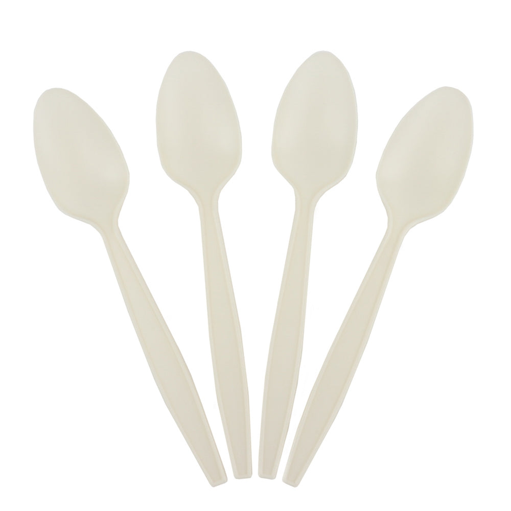 White Heavy Weight Eco-Friendly Spoons