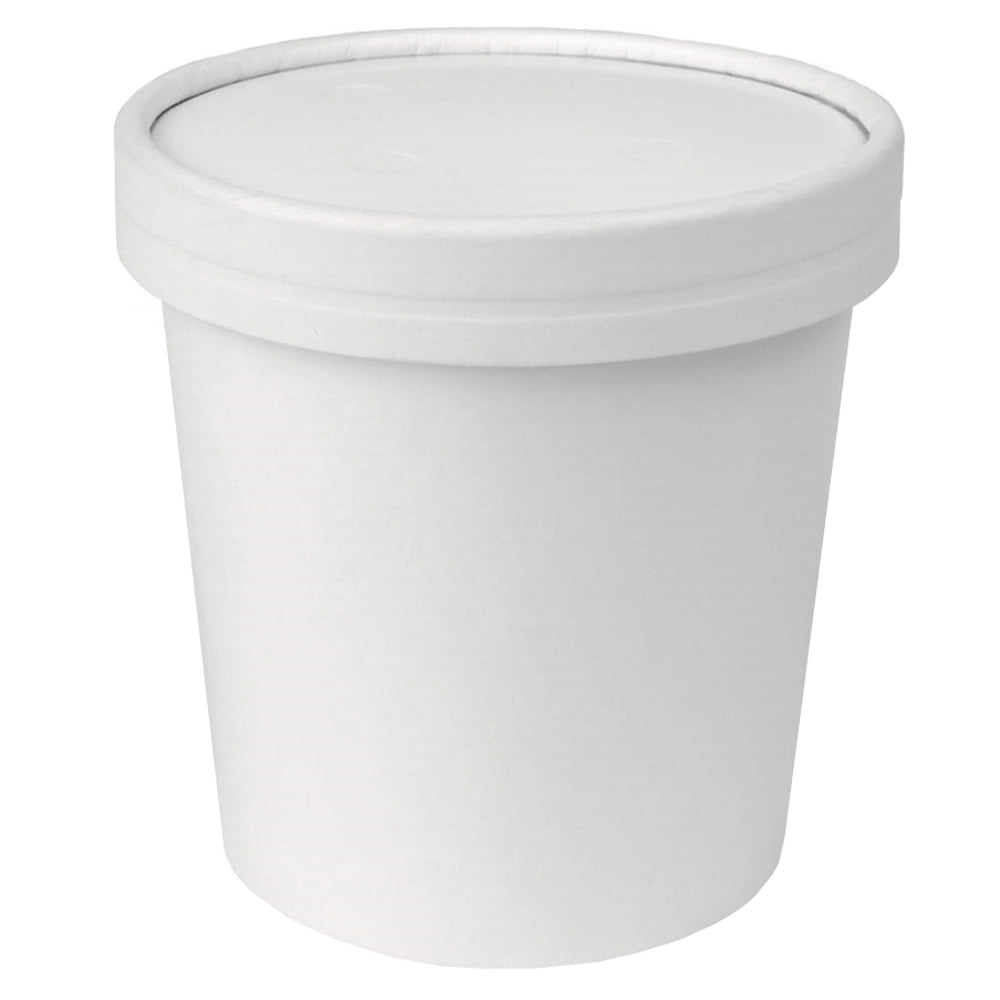 UNIQ® Pint 16 oz Eco-Friendly Compostable To Go Containers With Non-Vented Lids