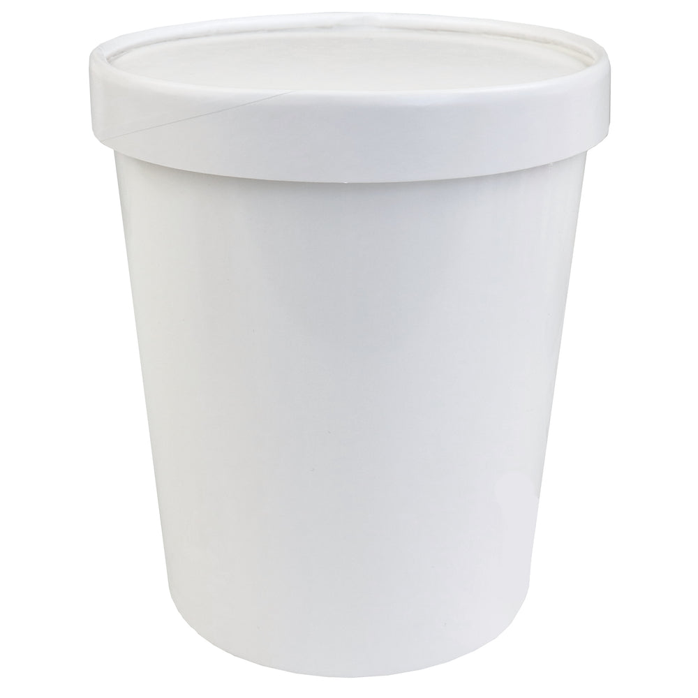UNIQ® Quart 32 oz Eco-Friendly Compostable To Go Containers With Non-Vented Lids