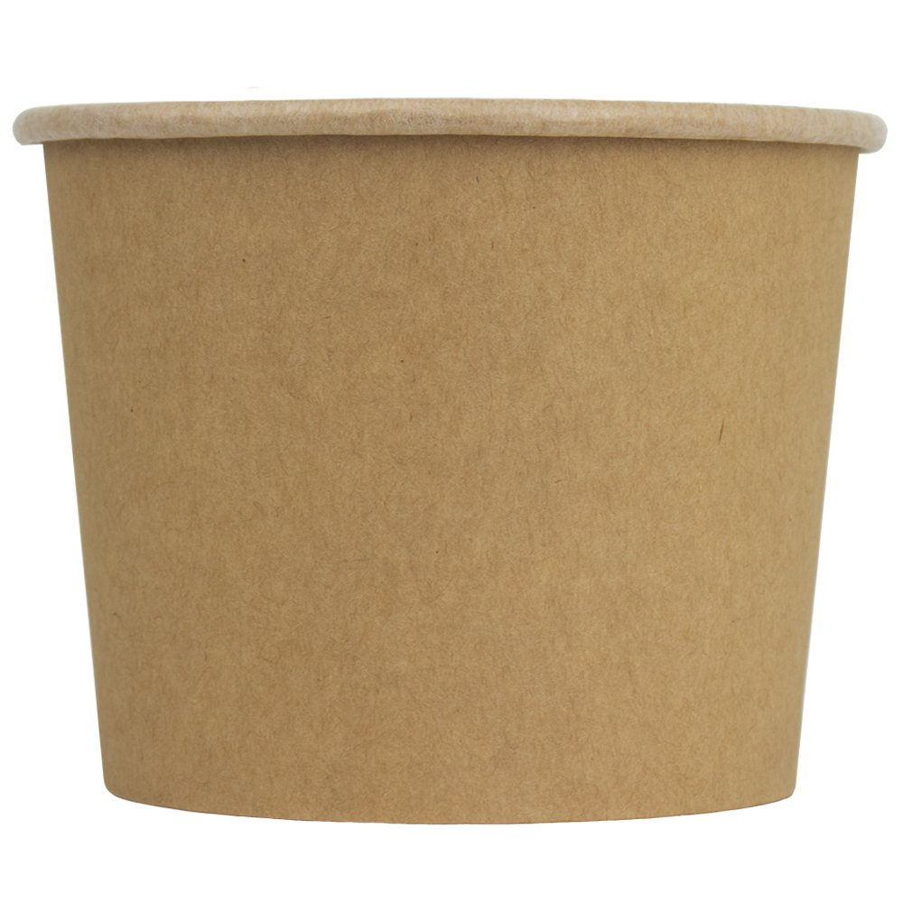 UNIQ® 16 oz Kraft Compostable Ice Cream Cups
