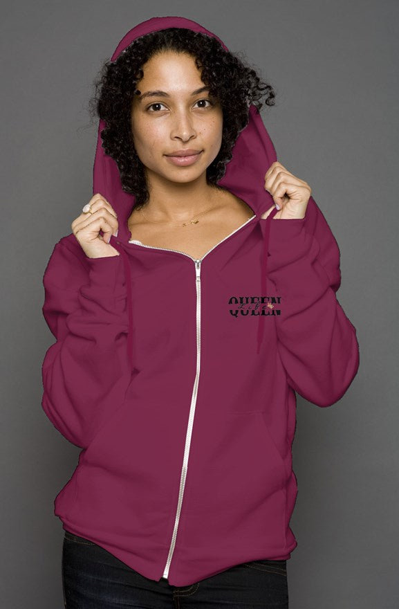 Queen Life Genuine Design Zip Hoodie