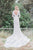 Mermaid V-Neck Backless Long Sleeves Lace Wedding Dress OHD022 | Cathyprom