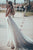 A-Line Sweetheart Sweep Train Wedding Dress with Appliques OHD065 | Cathyprom