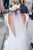 Beautiful Wedding Gown Sheath V-Neck Long Sleeves Court train Backless Bridal Gown Ivory Lace Wedding Dress OHD225
