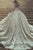 Ball Gown Jewel Chapel Train Long Sleeves White Lace Wedding Dress with Appliques OHD230
