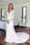 Mermaid V-Neck Long Sleeves Sweep Train Wedding Dress with Appliques OHD243