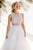 A-Line Crew Floor-Length White Wedding Dress with Appliques OHD078 | Cathyprom