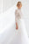 A-Line High Neck Long Sleeves Sweep Train Detachable Tulle Wedding Dress OHD113 | Cathyprom