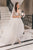 A-Line V-Neck Long Sleeves Sweep Train Wedding Dress Bridal Gown with Appliques OHD246