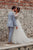 A-Line V-Neck Long Sleeves Sweep Train Appliqued Backless Bohemian Wedding Dress OHD245