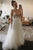 Elegant A-Line Spaghetti Straps Criss-Cross Back Appliqued Bohemian Wedding Dress OHD261