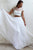 Two Piece Round Neck Cap Sleeves Beach Wedding Dress with Lace OHD257