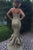 Mermaid Sweetheart Sweep Train Gold Sequined Prom Dress with Ruffles Q83