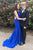 Decent Bateau Open Back Sweep Train Royal Blue Mermaid Prom Dress with Beading LPD56 | Cathyprom