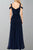 A-Line Straps Floor-Length Navy Blue Chiffon Prom Dress OHC067 | Cathyprom