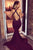 Mermaid Deep V-Neck Criss-Cross Straps Court Train Burgundy Satin Prom Dress P12