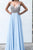 A-Line Spaghetti Straps Backless Floor-Length Light Blue Beaded Chiffon Prom Dress OHC029 | Cathyprom