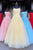 Fancy Spaghetti Straps Formal Prom Party Dress with Appliques Evening Dress OHC556