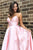 Modest V-neck Sleeveless Criss Cross Back Pockets Long Satin Prom Evening Dress OHC577