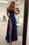 Simple A Line Spaghetti Straps Sweep Train Backless Sleeveless Long Satin Prom Dress With Pockets OHC271 | Cathyprom