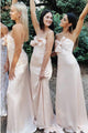 Sheath Sweetheart Floor-Length Bridesmaid Dress with Bowknot OHS087 | Cathyprom