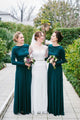 A-Line Crew Long Sleeves Floor-Length Bridesmaid Dress OHS078 | Cathyprom