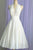 Vintage A Line Halter White Short Homecoming Dresses with Ruffles OHM086 | Cathyprom
