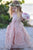 A Line Long Hand-Made Flower Chiffon Flower Girl Dresses  OHR030 | Cathyprom