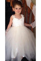 Ivory Sweetheart Lace Cute Tulle Bowknot Flower Girl Dresses  OHR009 | Cathyprom