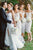 Sheath Off-the-Shoulder Tea Length White Lace Bridesmaid Dress OHS016 | Cathyprom